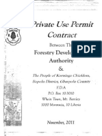 Private Use Permit Between The Forestry Development Authority and the People of Korninga, Gbarpolu County, October 6, 2011