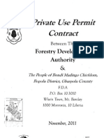 Private Use Permit Between The Forestry Development Authority and the People of Bondi Mandingo Chiefdom,Gbarpolu County November 11, 2011
