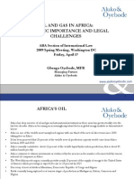 Oil and Gas in Africa Presentation Strategic Importance and Legal Challenges