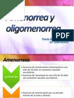 Amenorrea y Oligomenorrea