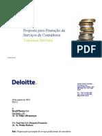 Deloitte - Proposta para Prestação de Serviços de Consultoria