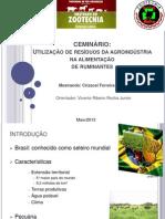 Utilização de resíduos  da fruticultura e agroindústria1