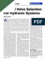 control valve selection