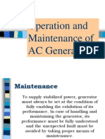 Operation and Maintenance of AC Generator