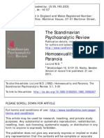 Homosexuality and Paranoia