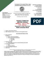 ECWANDC - Finance Committee Meeting June 17, 2013