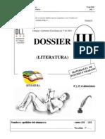 03.Dossier Tres Lengua 3o Eso Literatura