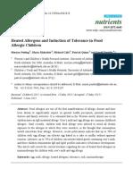 Alergenos Ingeridos e Induccion de Tolerancia en Alergia Alimentaria Infantil