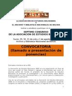 Convocatoria Aeb2013sucre Llamado a Ponencias (2)