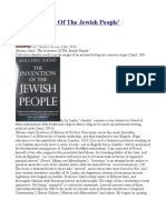 'The Invention Of The Jewish People'