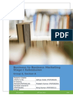 Business to Business Marketing Stage 1