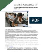 Cae La Nota General de La PAES en 2011