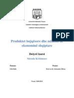 Detyre Kursi-Produktet Bujqesore Dhe Ndikimi Ne Ekonomine Shqiptare