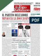 Il Fatto Quotidiano del 18 maggio 2013
