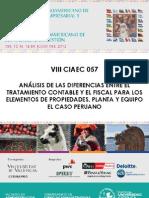 Analisis Diferencias Tratamiento Contable y Fiscal IME Peru