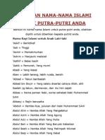 Kumpulan Nama Islami Terbaru