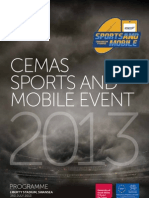 CEMAS Sport and Mobile 2013 Programme