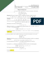 Corrección Examen Final Cálculo III, 3  julio 2013