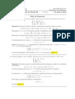 Corrección Examen Final Cálculo III, 1 julio 2013