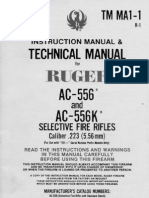 AC-556 and AC-556K TM MA1-1, Ruger 1985 English Language Manual