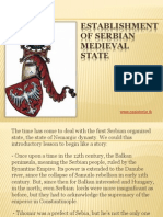 8 - Establishment of Serbian medieval state