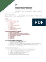 Pauta para elaboración Informe de Práctica-1
