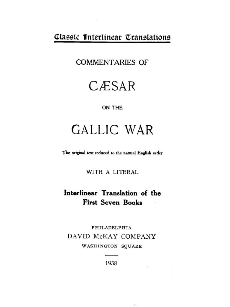 Caesar's Commentaries On The Gallic War - Interlinear (135