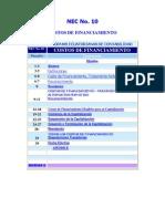 NEC 10 Costos de Financiamiento