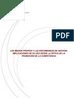 CNC Informe Sobre Los Medios Propios y Las Encomiendas de Gestion