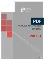 Manual Proceso Matricula OnLine 2013-I (1)