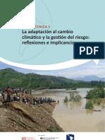 La adaptación al cambio  climático y la gestión del riesgo