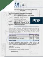 Carta Adricam Informe Valor