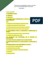PLAN DE CAPACITACIÓN Y ADIESTRAMIENTO PARA LA GESTION PUBLICA DEL ESTADO PLURINACIONAL DE BOLIVIA
