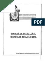 03/07/13 SÍNTESIS DE SALUD