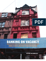 Banking on Vacancy - Homelessness and Real Estate Speculation