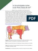 Cuáles son los principales cortes comerciales de carne fresca de res