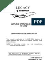 Embraer Emb-135bj Aom Vol. 1 Aom