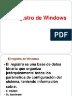 El Registro de Windows