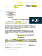 Photo Identification Affidavit Template