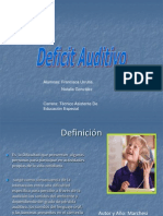 Deficit Auditivo