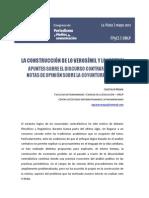 La construccion de lo verosimil y lo virtual - Discurso contrafactico en notas de opinion sobre la coyuntura politica.pdf