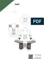 Blog Paper Toy Papercraft Alphabet a Astronaut Template