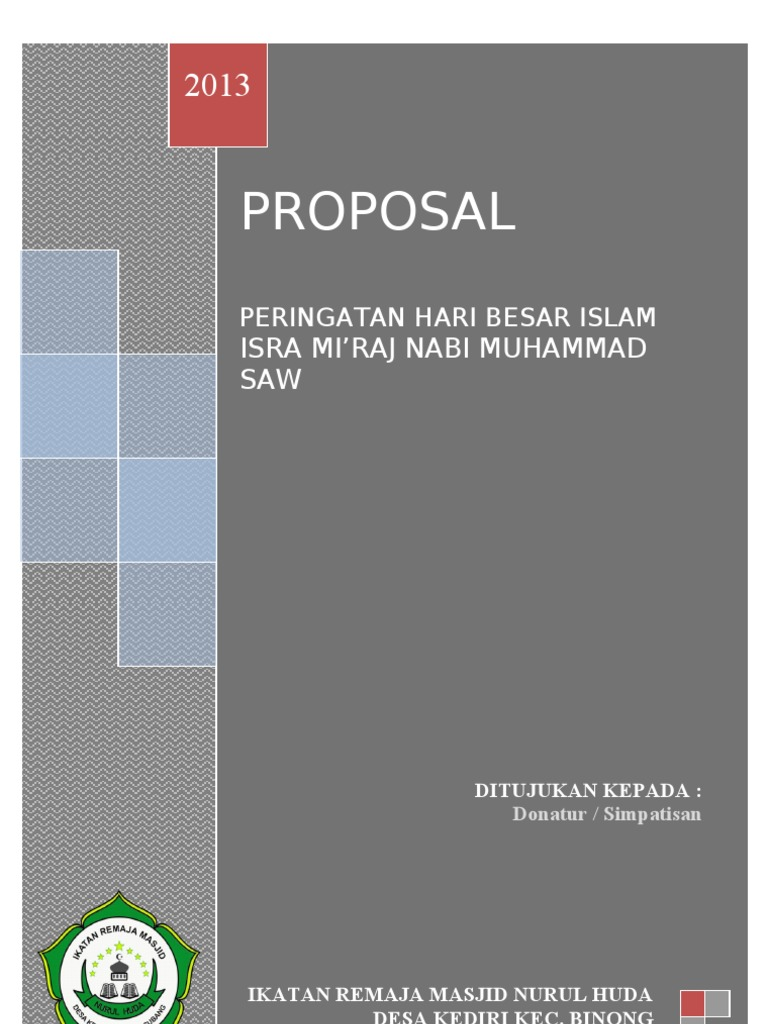 Proposal Isra Mi Raj