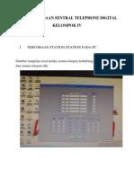 Data Percobaan Sentral Telephone Digital