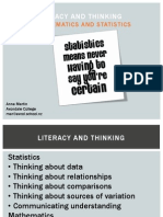 Thinking and Literacy in Mathematics and Statistics 2