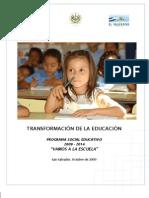 Programa Social Educativo Vamos Ala Escuela