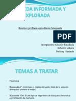 BÚSQUEDA INFORMADA Y EXPLORADA