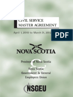 Civil Service Master Agreement April 1 2010 to March 31 2012