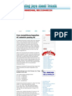 Cara Menghitung Kapasitas AC Sebelum Pasang AC