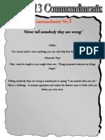 Danny's 13 Commandments